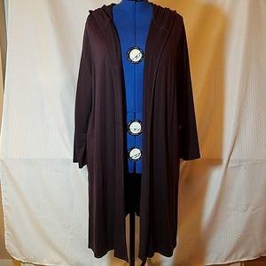 J. Jill long hooded jacket